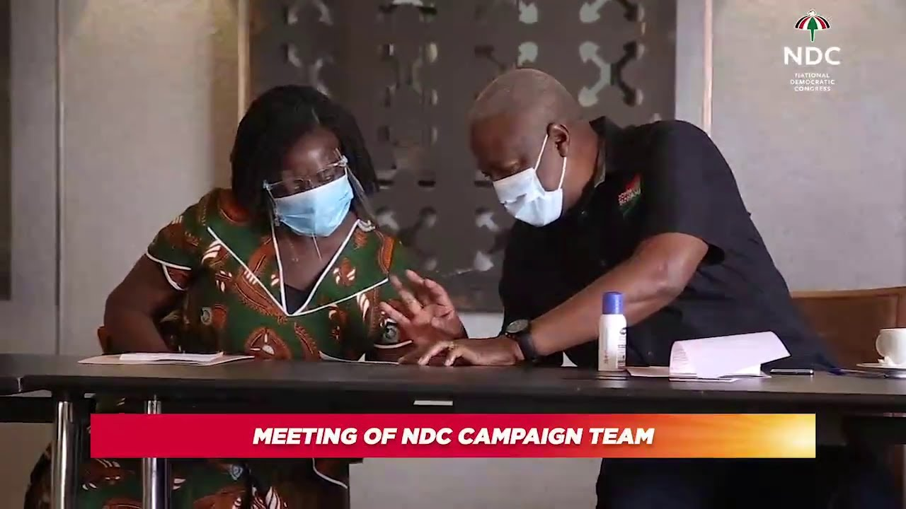Mahama's Running Mate Jane Opoku-Agyemang Meets With The NDC Campaign Team For The First Time