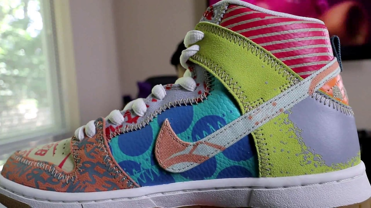best sneakers dbc5e 7d4d0 Nike SB Dunk High What The   Thomas Campbell Edition