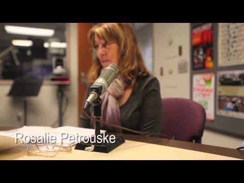 Rosalie Petrouska reads poetry on the Lansing Online News Radio Show