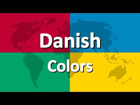 Learn Danish part 3 | Colors
