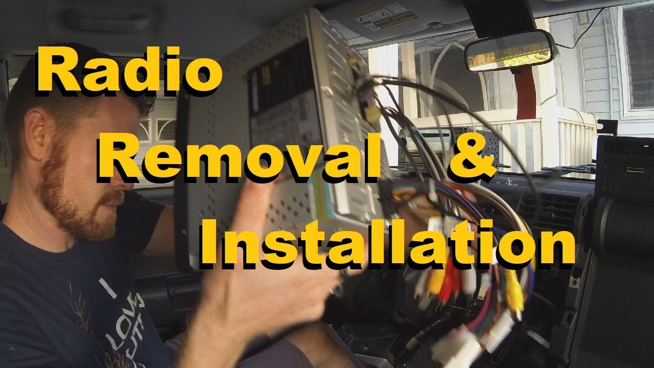 hight resolution of fj cruiser radio removal and installation