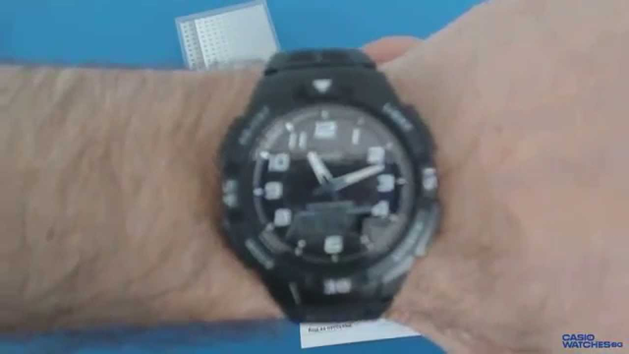 dc8a3a58e47 Casio Solar AQ-S800W-1BV - YouTube
