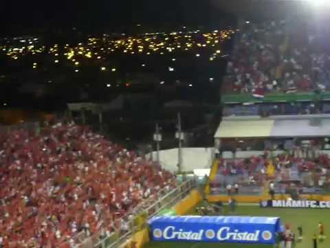 Costa Rican Fans TICOS Roar In The Saprissa Stadium
