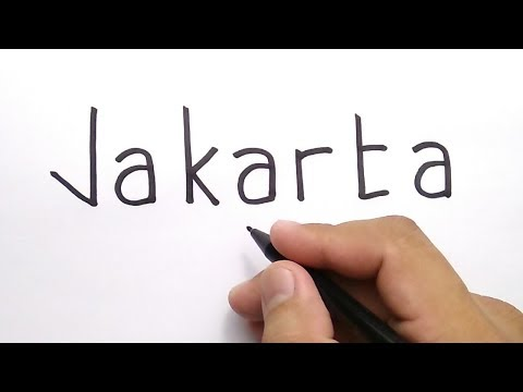 HEBAT, Menggambar Kata JAKARTA Jadi GAMBAR KEREN BANGET