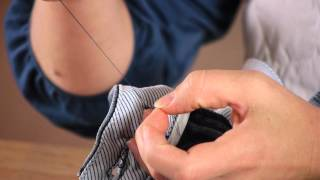 How to Sew a Button on Shorts : Buttons & Sewing Tips