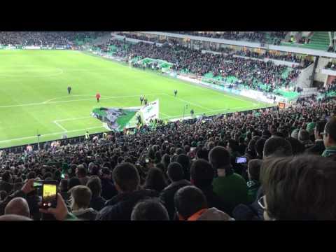 Derby victoire asse ol 2-0 magic fans shalalalalalalala oh saint etienne