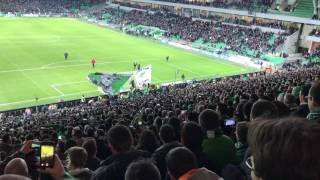 Derby victoire asse ol 2-0 magic fans shalalalalalalala oh saint etienne