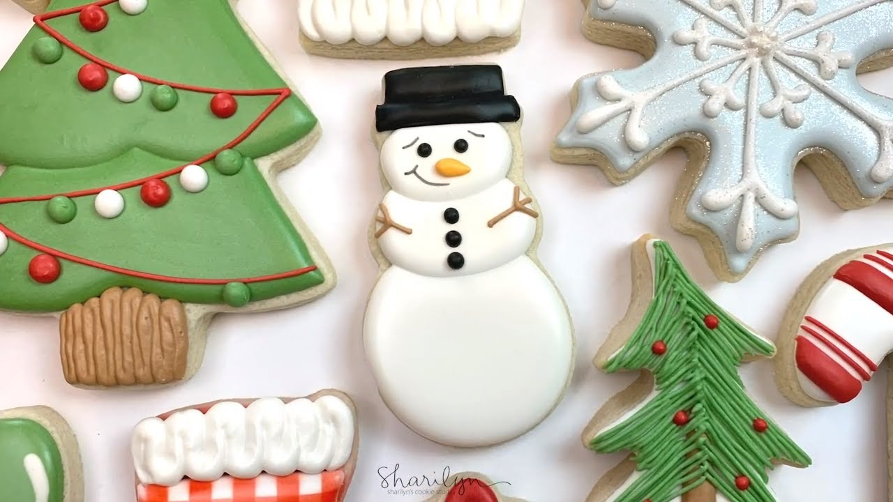 How To Decorate Easy Snowman Sugar Cookies! 12 Days of Christmas