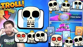 TROLLING w/ NEW SKELETON EMOTES! NEW EMOTE GAMEPLAY! | Clash Royale | CRAZY TRADE TOKEN CHALLENGE