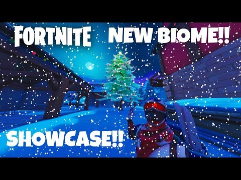 FORTNITE NEW SNOW BIOME FULL SHOWCASE!!!
