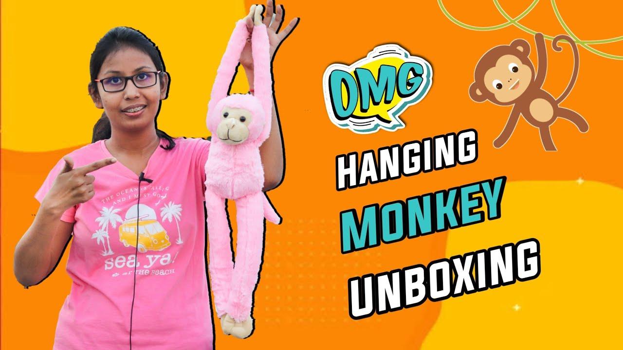 Hanging Long Monkey Stuffed Soft Toy | Monkey Soft Toy Unboxing | Cartoon Plush Soft Toy Unboxing