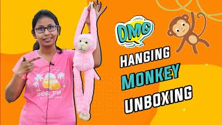 Hanging Long Monkey Stuffed Soft Toy Monkey Soft Toy Unboxing Cartoon Plush Soft Toy Unboxing