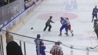 Драки в КХЛ. Кетов в матче СКА-Йокерит