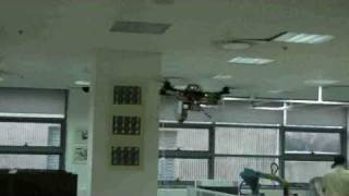 Indoor flight of an autonomous vision-guided quadrotor