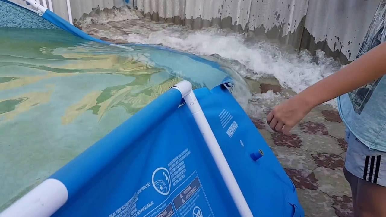 Разборка бассейна. Хранение каркасного бассейна. Как мы разбирали .