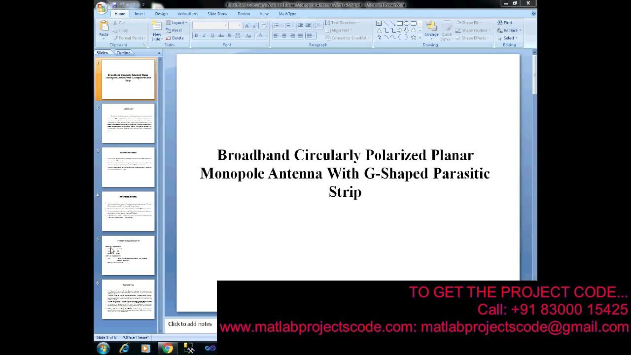 Broadband Circularly Polarized Planar Monopole Antenna with G-Shaped  Parasitic Strip