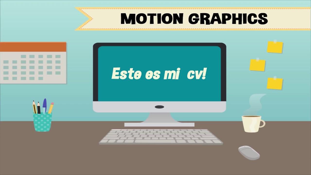 motion graphics cv