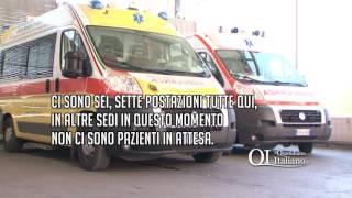 Caos 118. Delirio al Policlinico: ambulanze bloccate e medici sotto assedio