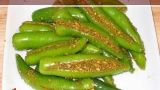 Green Chili Pickle Recipe by Manjula thumbnail