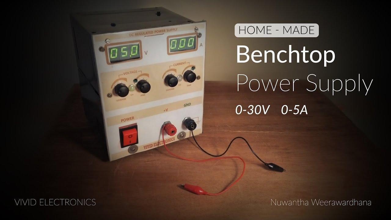Diy Home Made Lab Power Supply 0 30v 0 5a Youtube