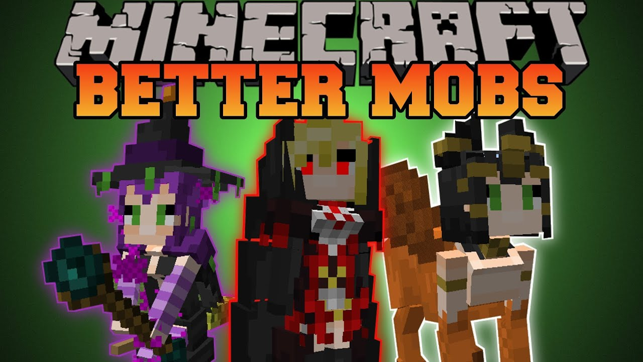 Cute Animated Little Girl Wallpaper Minecraft Better Mobs Tons Of Mobs Merchants Unique