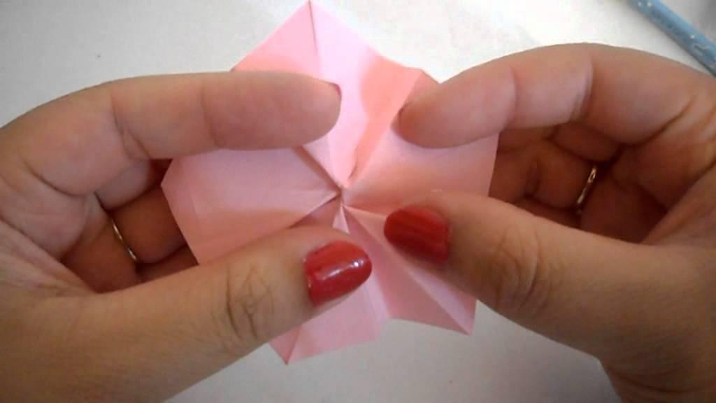 Origami cherry blossoms tutorial - YouTube - photo#7