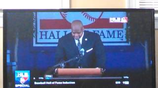 Frank Thomas thanks Larry himes