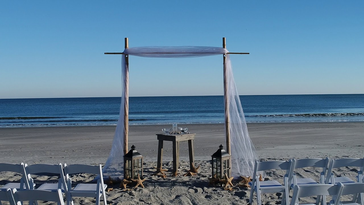 Beach Wedding Arch Ideas: Single Myrtle Beach Wedding Arch