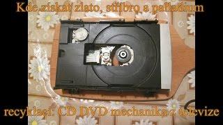Kde získat zlato, stříbro a palladium recyklací - CD DVD mechanika z televize