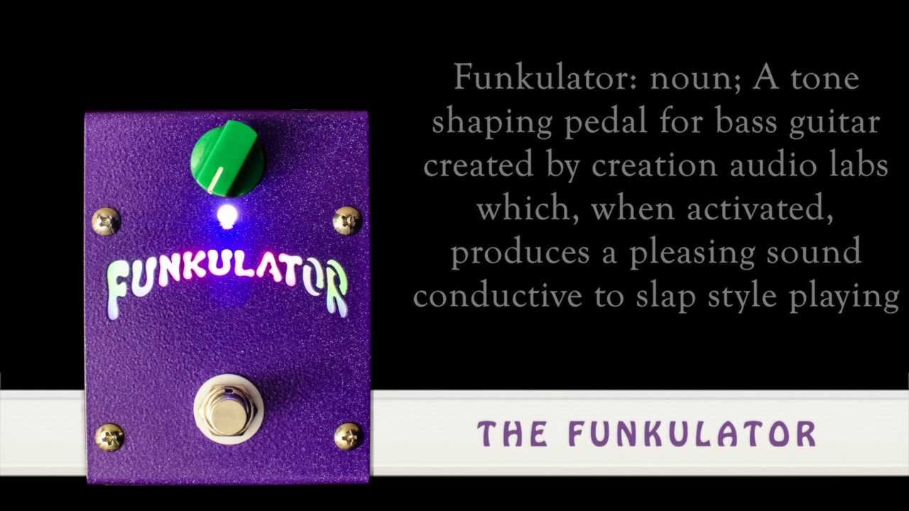 Taking the Funkulator bass pedal for a test drive