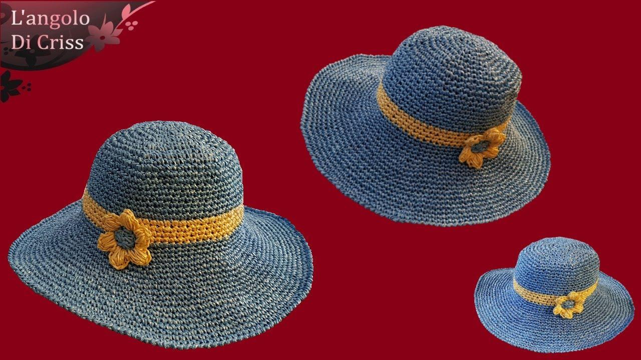 qualità eccellente foto ufficiali ultima moda Tutorial cappello estivo all'uncinetto