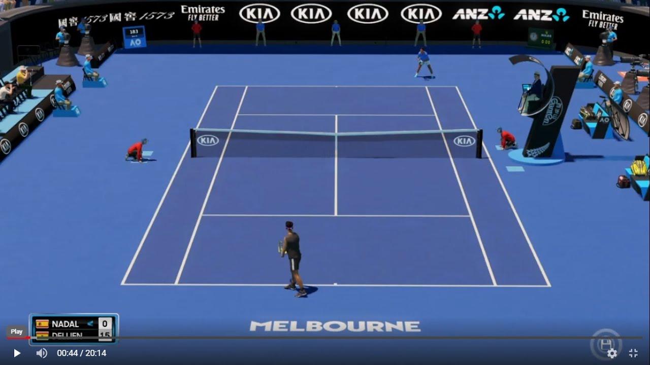 Rafael Nadal vs Hugo Dellien - Australian Open 2020 AO ...
