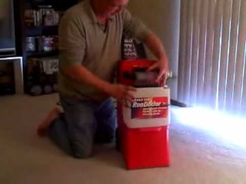 How to Clean a Carpet with a Hot Water Extraction Machine - How To Use a Rug Doctor