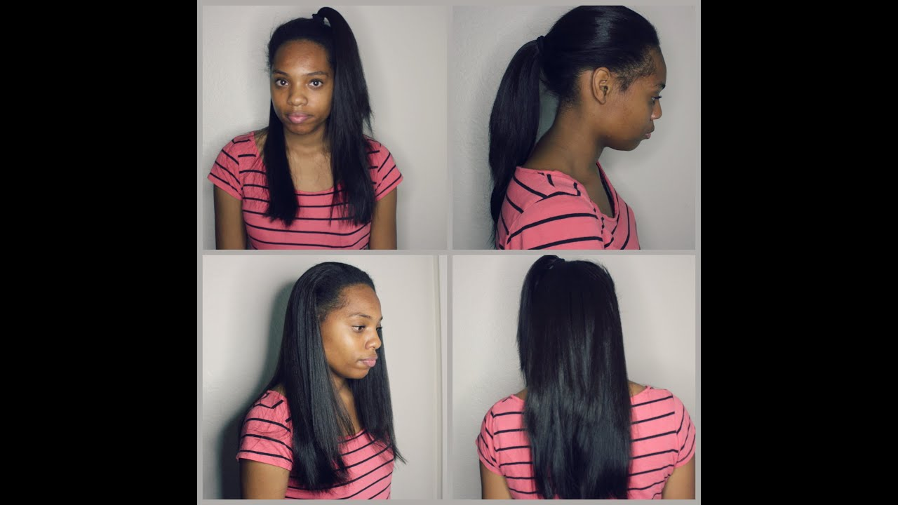 Flawless Verstile Middle Part Sew In On Short Natural Hair