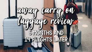CLEANING MY AWAY CARRY-ON  **6 months and 14 flights later** + $20 off promo code
