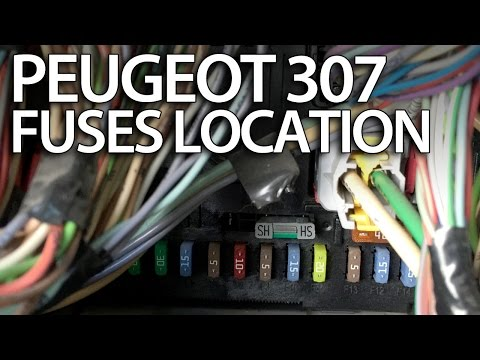 where are fuses, relays and obd port in peugeot 307 (fuse box obd2) tips -  youtube