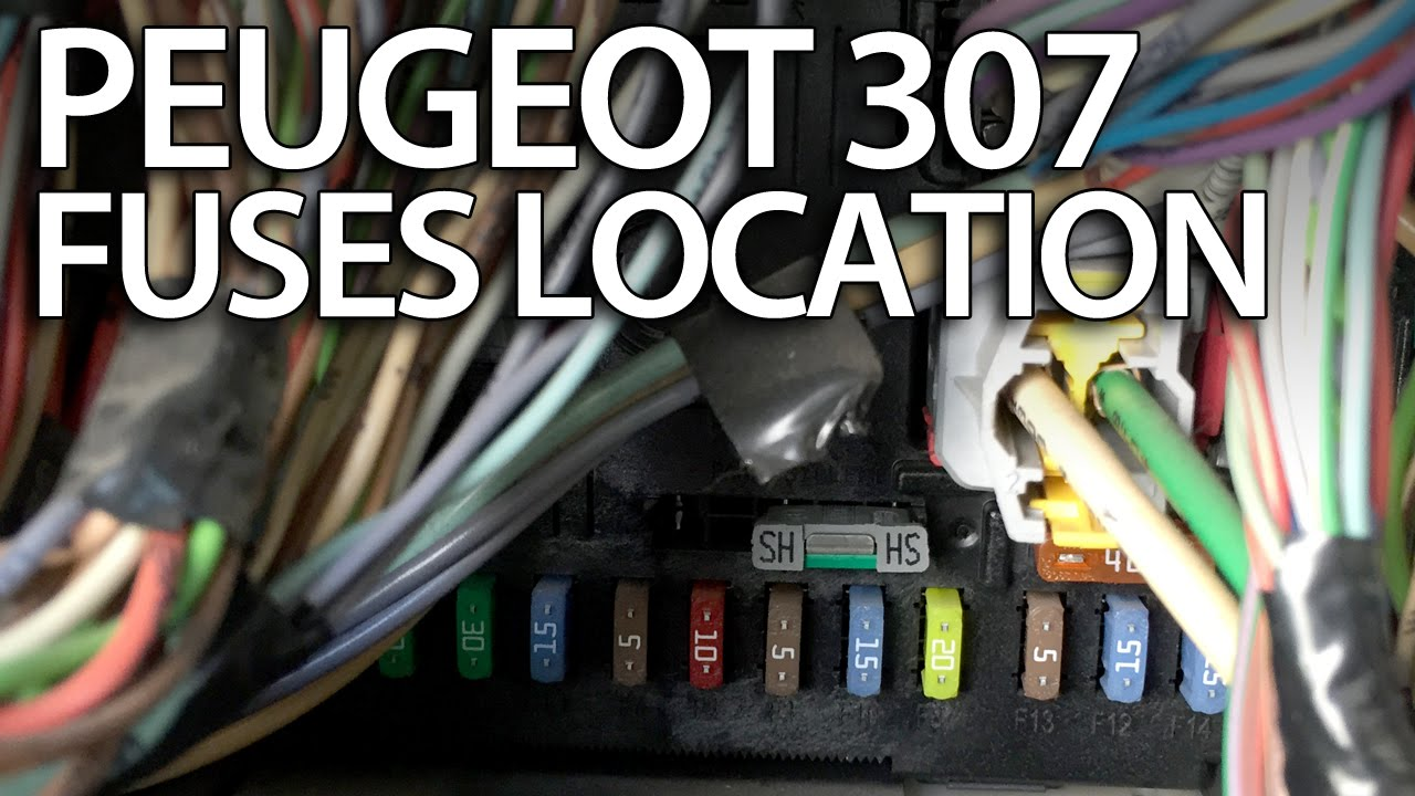 where are fuses relays and obd port in peugeot 307 fuse box obd2 rh youtube com