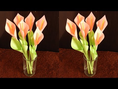 DIY Lily Flower    DIY Calla Lily Paper Flower   Easy Origami Flower for Beginners   DIY Paper Craft