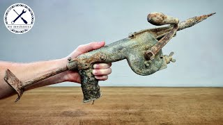 Antique Hand Cranked Hammer Drill - Restoration