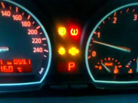BMW X3 3.0 Tyre pressure sensor light - YouTube