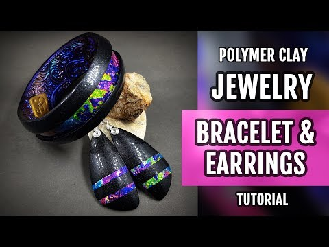DIY ! Lisa Pavelka FOILS & Polymer Clay PREMO Bracelet and Earrings. HOW to Make!