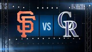4/14/16: Nine-run 5th helps Rockies top Giants, 11-6