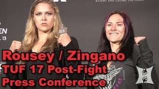 TUF 17 Finale Post-Fight Press Conference: Gastelum, Zingano, Rousey (HD / complete + unedited)