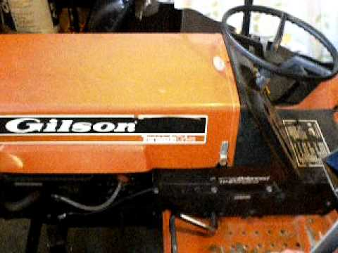 1981 gilson tractor youtube rh youtube com