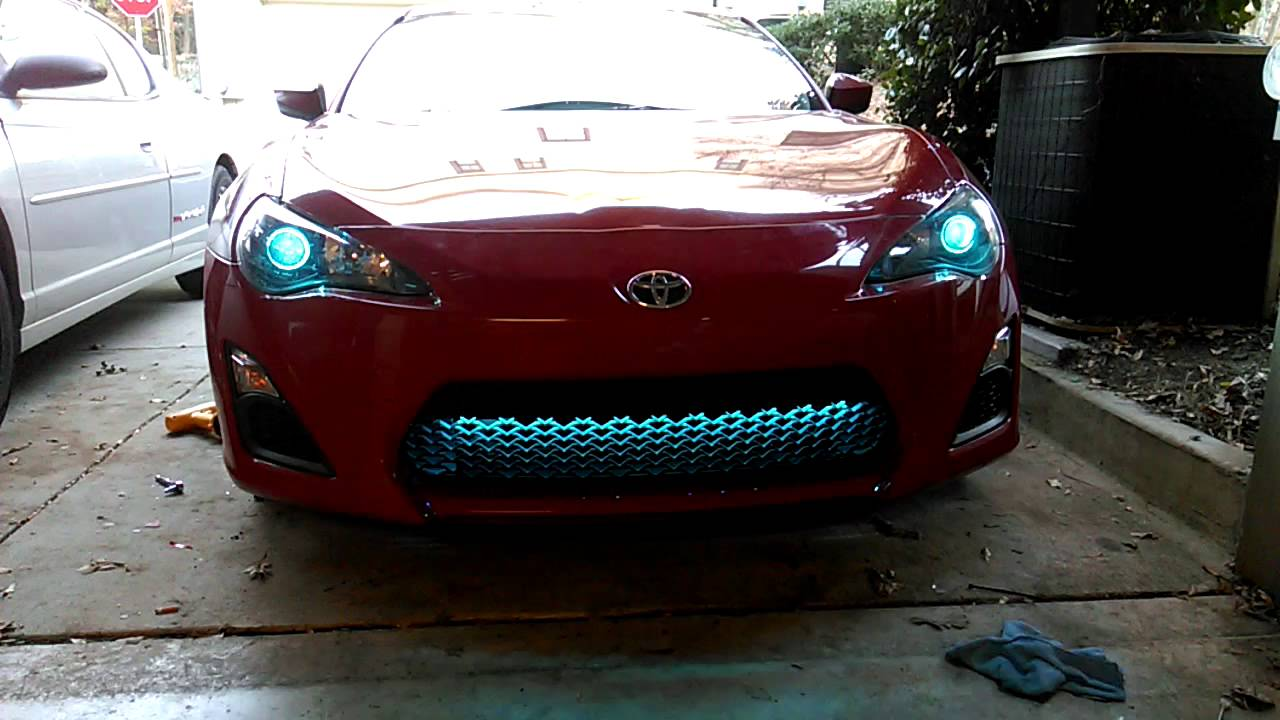 RGB grill lights and angel eyes in FRS - YouTube