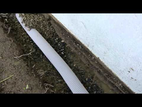 how to build a french drain system video