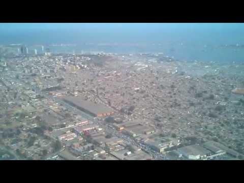 Landing in Luanda, Angola in Boeing 747-400