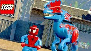 HOMEM ARANHA E SEU DINOSSAURO no LEGO Jurassic World EXTRAS MUNDO ABERTO #25
