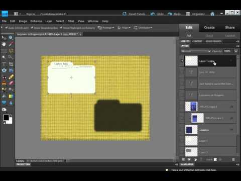 Putting A Drop Shadow On Separate Layer In Photoshop Elements