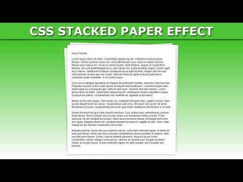 CSS Stacked Paper Effect